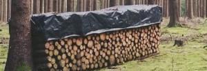 Bache pour protection du bois